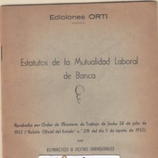 Documentos bancarios: BANCA BANCO HISPANO AMERICANO MOTUALIDAD MUY COMPLET0 ESTATUTOS 9 DOCUMENTOS. Lote 122072007
