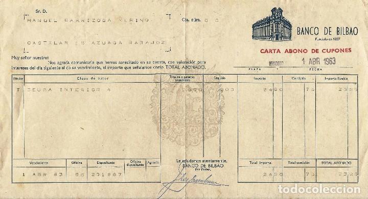 BANCO DE BILBAO. (Coleccionismo - Documentos - Documentos Bancarios)