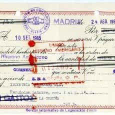 Documentos bancarios: INDUSTRIA BALLENERA.1965. LETRA DE CAMBIO, PAGARÉ, TIMBRE FISCAL. Lote 123065163