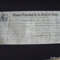 Documents bancaires: JML DOCUMENTO BANCARIO, LETRA DE CAMBIO SEGUNDA DE CAMBIO SUCURSIAL SANTIAGO DE CUBA 1913, RARO . Lote 123421699