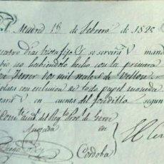 Documentos bancarios: LETRA DE CAMBIO ANTIGUA CORDOBA Y JEREZ 1829 CON CERTIF. AUTENT. DOCUMENTOS BANCARIOS ANDALUCÍA. Lote 124174215