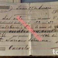 Documentos bancarios: JAEN, 1896,LETRA DE CAMBIO. Lote 125439411