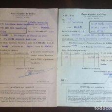 Documentos bancarios: BANESTO - ORDEN DE VENTA DE OBLIGACIONES - AÑO 1951 (DOCUMENTOS 84 Y 86). Lote 125842723