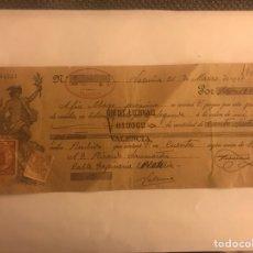 Documentos bancarios: VALENCIA. LETRA DE CAMBIO A PLATERÍA (A.1921). Lote 125962227