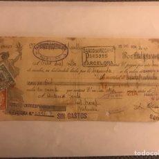 Documentos bancarios: VALENCIA. LETRA DE CAMBIO. LÁCTEOS MANLLEU (A.1935). Lote 125963254