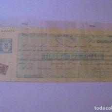Documentos bancarios: LETRA DE CAMBIO. UBEDA, CAZORLA. 1900.. Lote 127766171