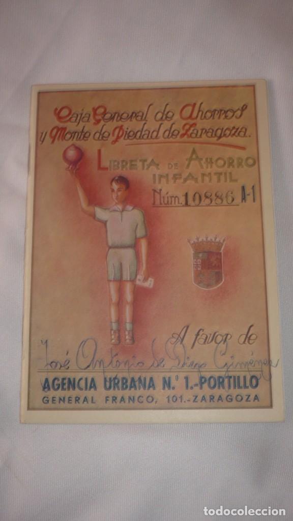 CARTILLA LIBRETA DE AHORROS INFANTIL AÑO 1956 (Coleccionismo - Documentos - Documentos Bancarios)