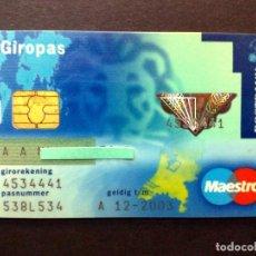 Documentos bancarios: TARJETA BANCARIA MAESTRO-GIROPAS-POSTCHEQUE DE POSTBANK.. Lote 129967595