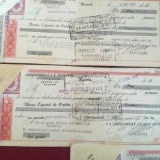 Documentos bancarios: CINCO LETRAS DE CAMBIO LABORATORIOS FFF SDAD LTDA A DON JOSÉ BLANCO MONTESDEOCA. Lote 130396703