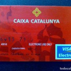 Documentos bancarios: TARJETA BANCARIA VISA ELECTRON-CAIXA CATALUNYA. Lote 130824512