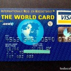 Documentos bancarios: TARJETA BANCARIA VISA CREDITO INTERNACIONAL,THE WORLD CARD,SIN FIRMA EN REVERSO.. Lote 130824824