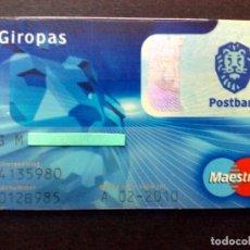 Documentos bancarios: TARJETA BANCARIA MAESTRO-GIROPAS-POSTBANK,N.L.,SIN FIRMA EN REVERO.. Lote 130825468
