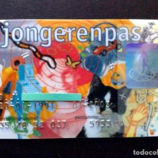 Documentos bancarios: TARJETA BANCARIA PERSONAL INFANTIL RABOBANK-JONGERENPAS. Lote 130854316