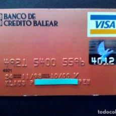 Documentos bancarios: TARJETA BANCARIA,VISA BANCO DE CREDITO BALEAR.. Lote 130854932