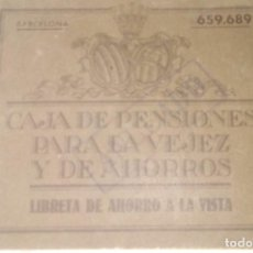 Documentos bancarios: LIBRETA DE AHORRO CAJA DE PENSIONES. Lote 131239335