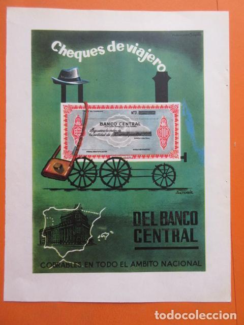 PUBLICIDAD 1962 - COLECCIÓN BANCOS - CHEQUES DE VIAJERO BANCO CENTRAL (Coleccionismo - Documentos - Documentos Bancarios)