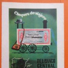 Documentos bancarios: PUBLICIDAD 1962 - COLECCIÓN BANCOS - CHEQUES DE VIAJERO BANCO CENTRAL. Lote 132207954