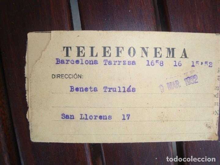 TELEFONEMA (Coleccionismo - Documentos - Documentos Bancarios)