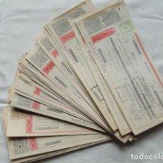 Documentos bancarios: 72 PAGARÉS LETRA DE CAMBIO. AÑOS DE 1957 A 1966.. Lote 132843598