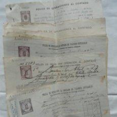 Documentos bancarios: 9 POLIZAS DE OPERACIONES AL CONTADO. AÑOS DE 1927 A 1943.. Lote 132844750