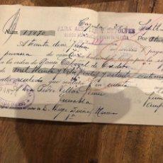 Documentos bancarios: VARIAS LETRAS DE CAMBIO A DON PEDRO VILLAR GÓMEZ- 1933-DEVUELTA-. Lote 133415983
