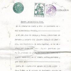 Documentos bancarios: CADIZ. 1930. PROTESTO DE FALTA DE PAGO. VER DOCUMENTOS. Lote 133696410