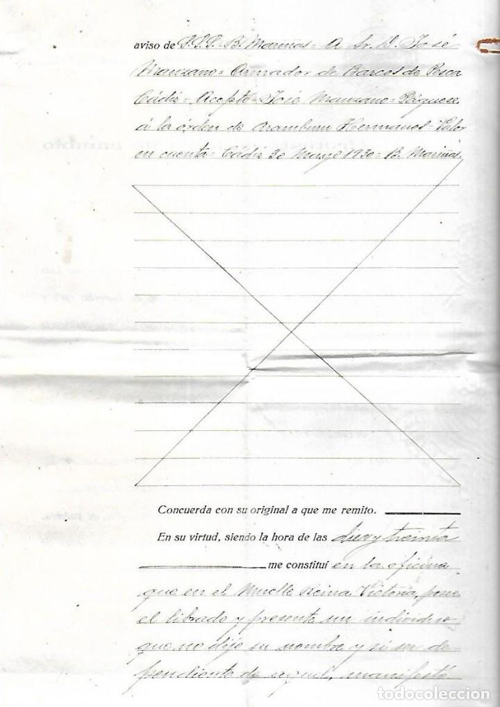 Documentos bancarios: CADIZ. 1930. PROTESTO DE LETRA DE CAMBIO. VER DOCUMENTOS - Foto 2 - 133697670