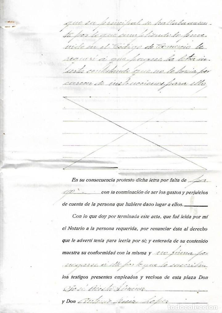 Documentos bancarios: CADIZ. 1930. PROTESTO DE LETRA DE CAMBIO. VER DOCUMENTOS - Foto 3 - 133697670