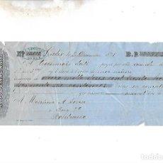 Documentos bancarios: LETRA DE CAMBIO. A.J.BENSUSAN. CADIZ. 1878. Lote 133908810