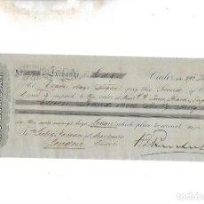 Documentos bancarios: LETRA DE CAMBIO. A.J.BENSUSAN. CADIZ. 1879. Lote 133908906