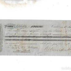 Documentos bancarios: LETRA DE CAMBIO. A.J.BENSUSAN. CADIZ. 1879. Lote 133908970