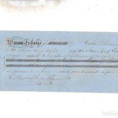 Documentos bancarios: LETRA DE CAMBIO. A.J.BENSUSAN. CADIZ. 1873. Lote 133909006