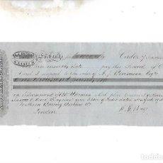 Documentos bancarios: LETRA DE CAMBIO. A.J.BENSUSAN. CADIZ. 1878. Lote 133909026