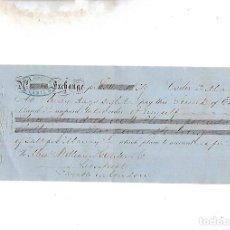 Documentos bancarios: LETRA DE CAMBIO. A.J.BENSUSAN. CADIZ. 1873. Lote 133909046
