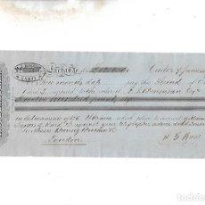 Documentos bancarios: LETRA DE CAMBIO. A.J.BENSUSAN. CADIZ. 1878. Lote 133909058