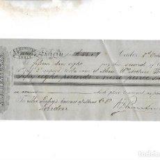 Documentos bancarios: LETRA DE CAMBIO. A.J.BENSUSAN. CADIZ. 1879. Lote 133909070