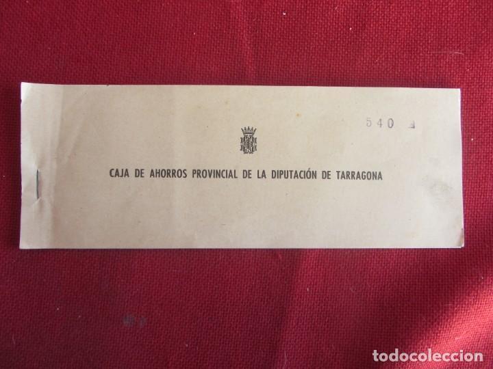 TALONARIO DE CHEQUES CAJA DE AHORROS PROVINCIAL DE LA DIPUTACIÓN DE TARRAGONA 1959-60 (Coleccionismo - Documentos - Documentos Bancarios)