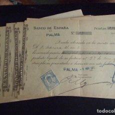Documentos bancarios: LOTE DE 34 LETRAS O FACTURAS - BANCO DE ESPAÑA 1912 - PALMA DE MALLORCA. Lote 134935458