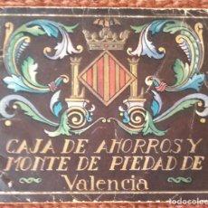 Documentos bancarios: LIBRETA CAJA DE AHORROS Y MONTE DE PIEDAD DE VALENCIA - 1936. Lote 134978434