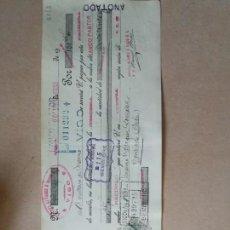 Documentos bancarios: ANTIGUA LETRA DE CAMBIO. MANUEL ÁLVAREZ E HIJOS.VIGO. AÑOS 30.. Lote 135223054