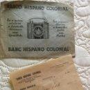 Documentos bancarios: 1937 DOCUMENTO DE LA CUENTA CORRIENTE DEL BANCO HISPANO COLONIAL JOAN FORT GALCERÁN. Lote 135510878