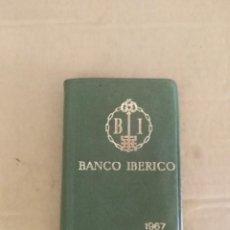 Documentos bancarios: AGENDA BANCO IBERICO 1967 COMO NUEVO . Lote 136188650