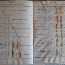 Documentos bancarios: CARTILLA DE AHORROS PLAN DE PENSIONES VITALICIAS 1924. Lote 136560522