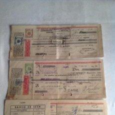 Documentos bancarios: TRES LETRAS DE CAMBIO CON TIMBRES AÑOS 1945 Y 51.. Lote 137124254