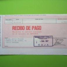 Documentos bancarios: RECIBO DE PAGO. Lote 137192050