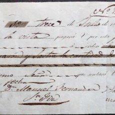 Documentos bancarios: GALICIA.LUGO.LETRA DE CAMBIO 1.000 REALES LIBRADA POR MARQUESA VDA.DE SAN MARTIN DE HOMBREIRO. 1846. Lote 137392402