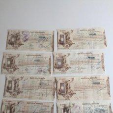 Documentos bancarios: PAGARÉ GIRO BANCO DE ESPAÑA , BARCELONA DESDE 1891 A 1896 , LOTE DE 8. Lote 137397346