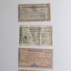 Documentos bancarios: CÉDULA PERSONAL , CUENCA , 1931 , VILLAGARCIA 1928 Y 1927 , LOTE DE 4 . Lote 137398186
