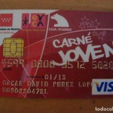 Documentos bancarios: TARJETA CARNE JOVEN CADUCADA. Lote 137424994