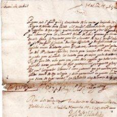 Documentos bancarios: PAGARES. VALLADOLID, 1654. PAGARES DE 453 REALES. . Lote 140376878